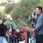 Scott Ludlam at March Against Monsanto Perth, May 2013.